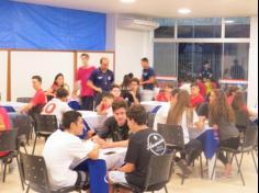 Um jantar para os atletas e líderes!