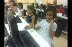 1ª aula no Laboratório de Informática