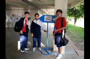Alunos do Salesiano na 2ª fase da Olimpíada Brasileira de Informática, na UDESC, em Joinville.